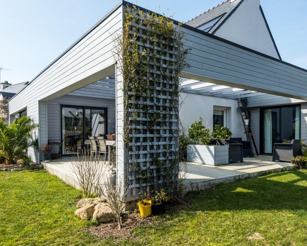 Extension / Véranda toit plat - Menuiserie Moureau